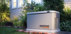 A Generator in use at Private Residence.
