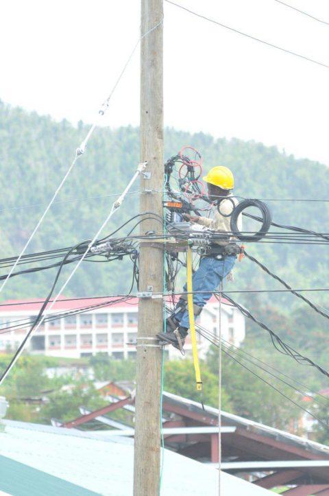 DOMLEC Personnel on Pole